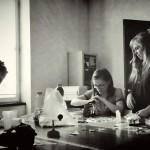 Elric Dufau, Julie Gore et Julie Maroh, premiers pressages  (Photographie d'Alain François)