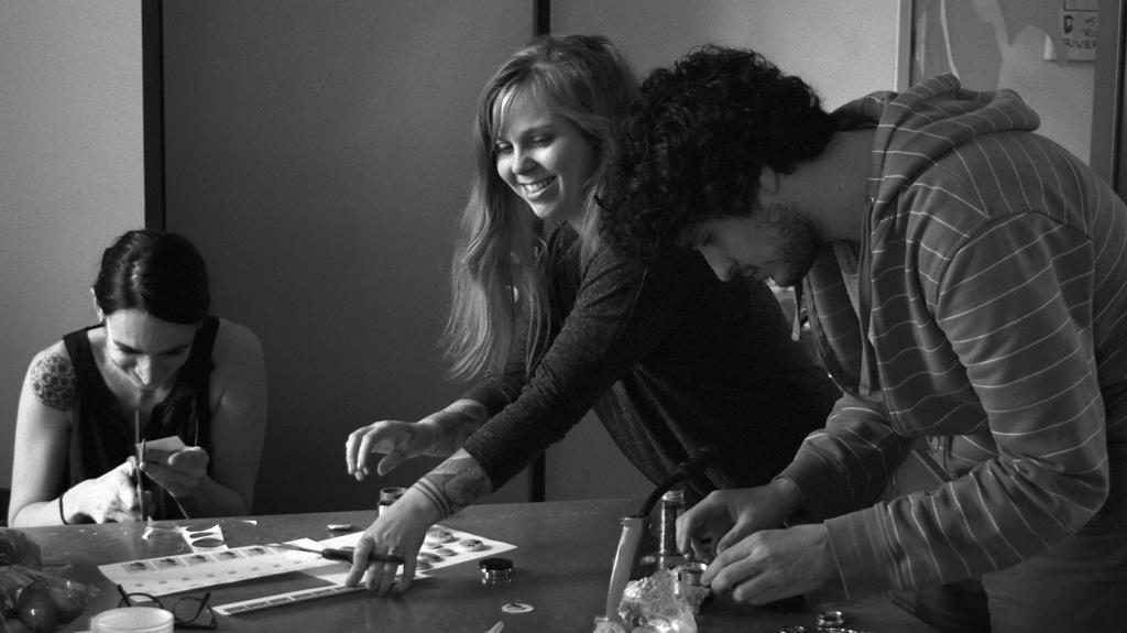 Mathilde Riberoux, Julie Maroh et Benjamin Frisch (Photographie d'Alain François)