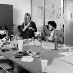 Julie Gore, Mathilde Riberoux, Julie Maroh, Benjamin Frisch et Katherine Ferrier  (Photographie d'Alain François)